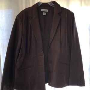 Lamb skin leather blazer